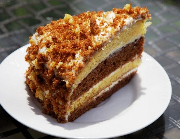 Простой торта со сметаны